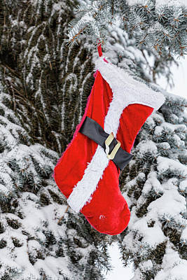 Photograph - Bright Red Santa Stocking by James BO Insogna
