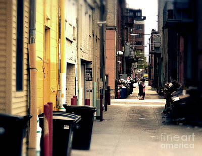 University Of Michigan Digital Art - Bright Side Of The Alley by Phil Perkins