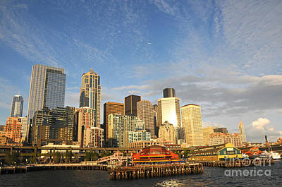 Photograph - Bright Skies Over Seattle by Sarah Schroder