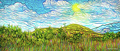 Digital Art - Bright Sky Summer - Field In Boulder County Colorado by Joel Bruce Wallach