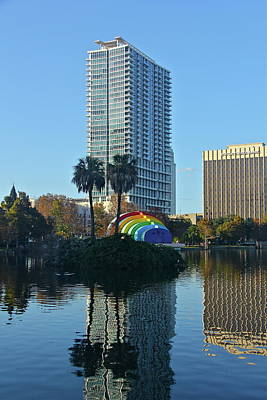 Photograph - Bright Spot In Downtown Orlando by Denise Mazzocco
