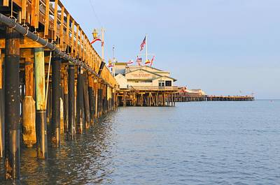 Photograph - Bright Stearns Wharf by Richard Omura