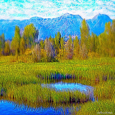 Digital Art - Bright Summer Lake by Joel Bruce Wallach