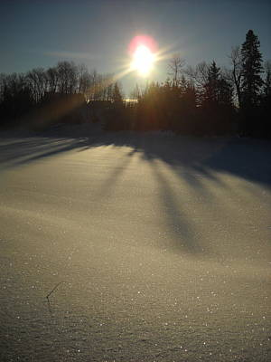 Photograph - Bright Sun On Fresh Snow by Kent Lorentzen