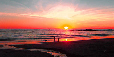 Photograph - Bright Sunset by Ben and Raisa Gertsberg