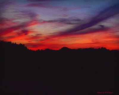 Photograph - Bright Sunset From Heaven by Kathy M Krause