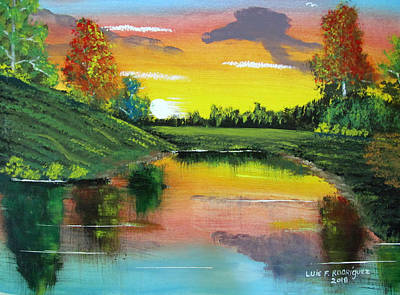 Painting - Bright Sunset by Luis F Rodriguez
