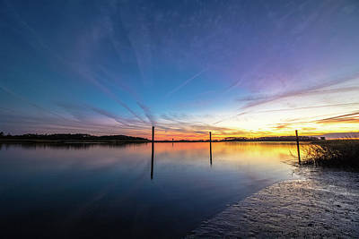 Photograph - Bright Sunset by Mike Dunn