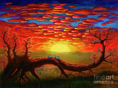 Painting - Bright Sunset by Rebecca Parker