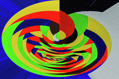 Bright  Twisting Art Print by Svetlana Iso