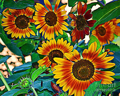 Photograph - Brighten Your Day The Sunflower Way by Kathy M Krause