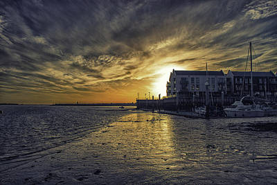 Essex Wall Art - Photograph - Brightlingsea Harbour by Martin Newman
