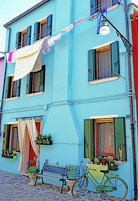 Photograph - Brightly Colored House And Beautiful Scene On The Island Of Burano, Italy by Richard Rosenshein