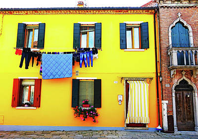 Photograph - Brightly Colored House On The Island Of Burano, Italy by Richard Rosenshein