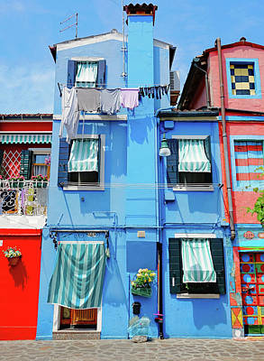 Photograph - Brightly Colored Houses On The Island Of Burano, Italy by Richard Rosenshein