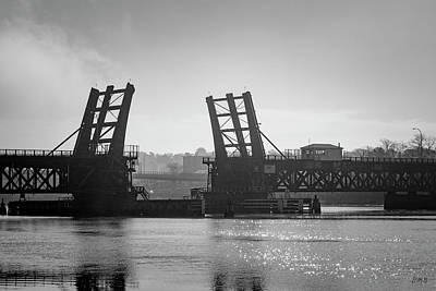 Photograph - Brightman St Bridge II Bw by David Gordon