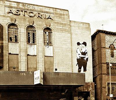 Photograph - Brighton Astoria With Banksy Copy by Dorothy Berry-Lound