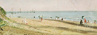 People On Beach Wall Art - Painting - Brighton Beach   Detail by John Constable