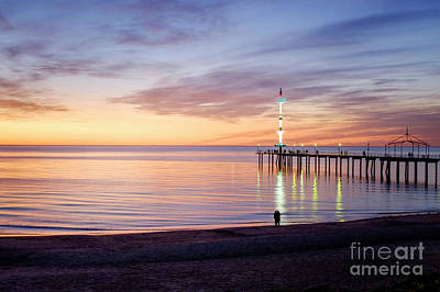 Photograph - Brighton Beach Sunset by Ray Warren