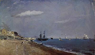 Painting - Brighton Beach With Colliers 1824 by Constable John
