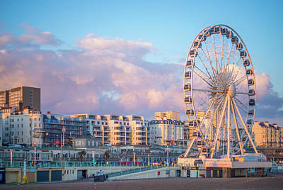 Photograph - Brighton Ferris Wheel by Lindy Grasser
