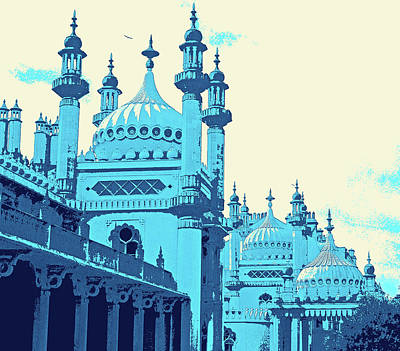 Digital Art - Brighton Pavilion by Mary Castellan