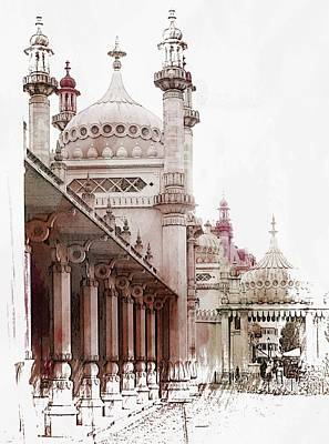 Photograph - Brighton Pavilion Rear Side View by Dorothy Berry-Lound