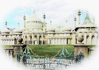 Photograph - Brighton Pavilion Street View by Dorothy Berry-Lound