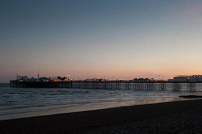 Photograph - Brighton Pier At Sunset I by Helen Northcott