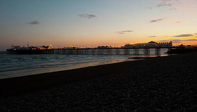 Photograph - Brighton Pier At Sunset II by Helen Northcott