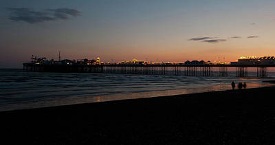 Photograph - Brighton Pier At Sunset IIi by Helen Northcott
