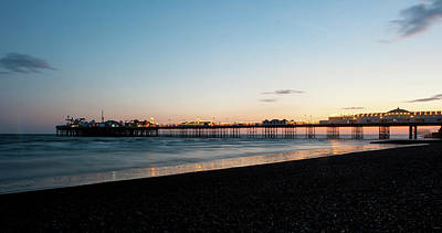 Photograph - Brighton Pier At Sunset V by Helen Northcott