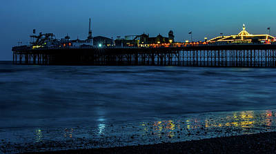 Photograph - Brighton Pier At Sunset Vii by Helen Northcott