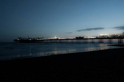 Photograph - Brighton Pier At Sunset Viii by Helen Northcott
