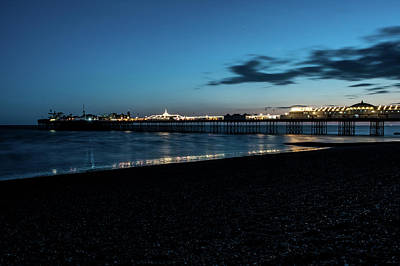 Photograph - Brighton Pier At Sunset X by Helen Northcott