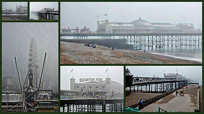 Photograph - Brighton Pier Collage by Dorothy Berry-Lound