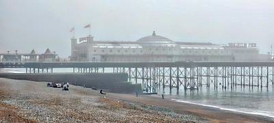 Photograph - Brighton Pier In The Gloom by Dorothy Berry-Lound