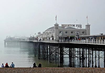 Photograph - Brighton Pier Out Of The Mist by Dorothy Berry-Lound