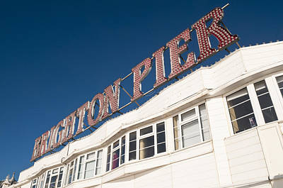 Photograph - Brighton Pier Sign by Mick House