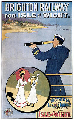 Royalty-Free and Rights-Managed Images - Brighton Railway, England - Isle of Wight -  Retro Travel Advertising Poster - Vintage Poster  by Studio Grafiikka