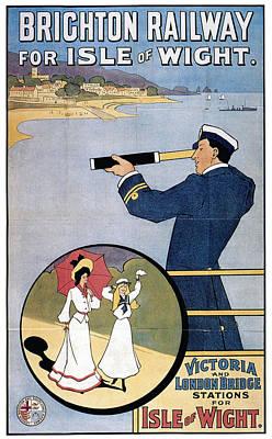 England Mixed Media - Brighton Railway, England - Isle Of Wight -  Retro Travel Advertising Poster - Vintage Poster  by Studio Grafiikka