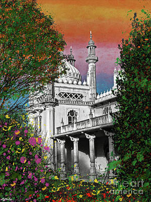 Museum Mixed Media Mixed Media - Brighton Royal Pavilion by Art by MyChicC