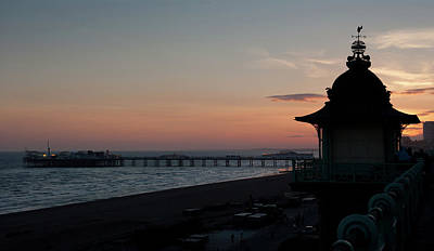 Photograph - Brighton Seafront Silhouette by Helen Northcott