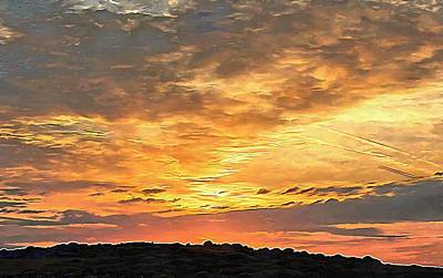 Photograph - Brighton Sunset Over The South Downs 1 by Dorothy Berry-Lound