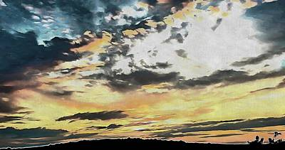 Photograph - Brighton Sunset Over The South Downs 2 by Dorothy Berry-Lound