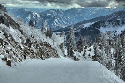 Photograph - Brighton Views Down Big Cottonwood Canyon by Adam Jewell