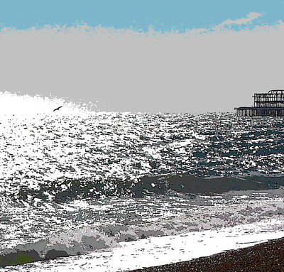 Digital Art - Brighton West Peer by Mary Castellan