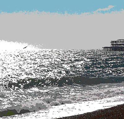 Digital Art - Brighton West Peer by Mary Castellan