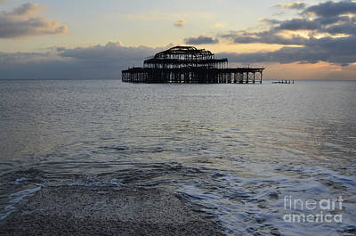 Brighton West Pier Art Print by Nichola Denny