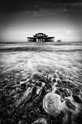 Photograph - Brighton West Pier by Will Gudgeon